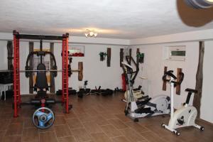 Das Fitnesscenter und/oder die Fitnesseinrichtungen in der Unterkunft Ferienwohnung Landhausliebe