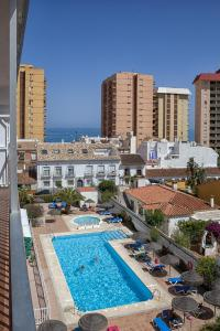 A view of the pool at Apartamentos Embajador or nearby