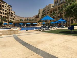 The swimming pool at or near Salt Sea Apartments Dead Sea