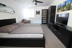 Łóżko lub łóżka w pokoju w obiekcie Apartament Meander