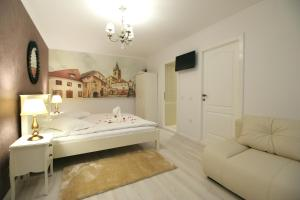 A bed or beds in a room at Casa Hermanni