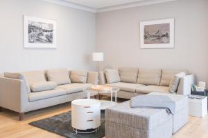 Uma área de estar em Schone Wohnung am Dresdner Zwinger