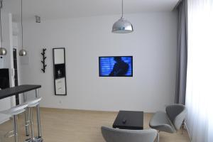 Telewizja i/lub zestaw kina domowego w obiekcie Apartamenty Krawiecka