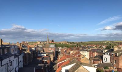 A general view of Whitby or a view of the city taken from the guesthouse