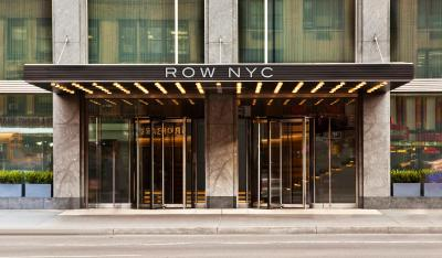 The facade or entrance of Row NYC at Times Square