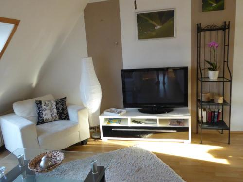 TV/Unterhaltungsangebot in der Unterkunft Ostseeferienwohnung Storchennest