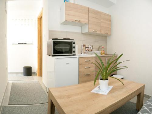 Kuchyň nebo kuchyňský kout v ubytování Apartments Aqua Resa
