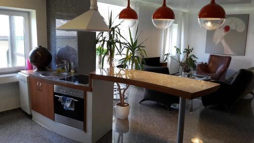 A kitchen or kitchenette at Vilnius Luxury Apartment 1