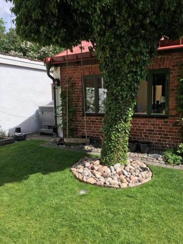 En trädgård utanför Lusthuset