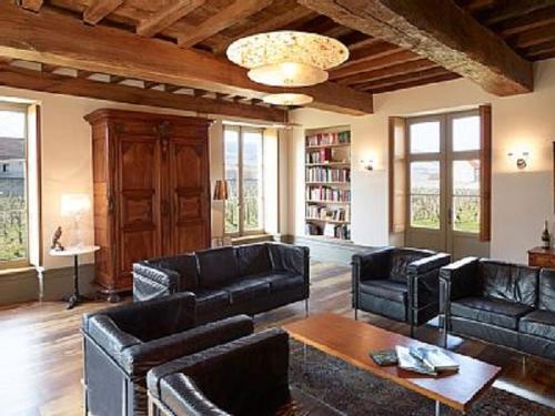 Zona de estar de Le Vieux Chateau