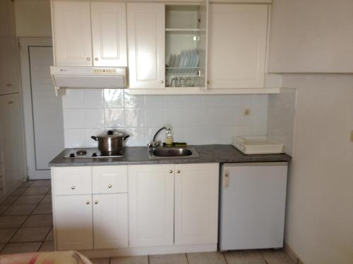 A kitchen or kitchenette at Gikas Apartments