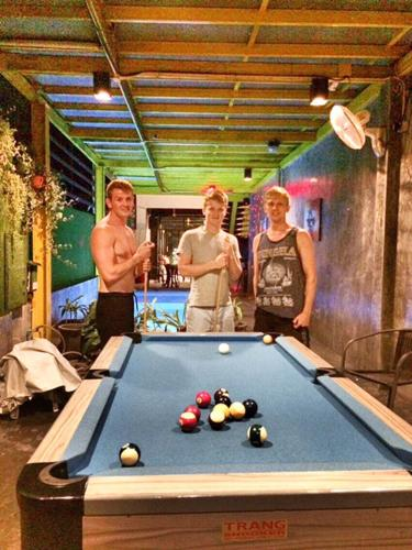 A pool table at Your Hostel
