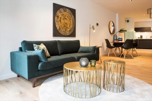 A seating area at City Boutique Apartment