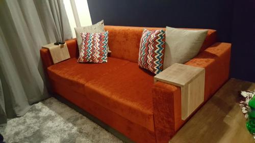 A seating area at Mountain View Apartment