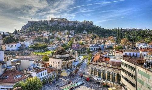 A bird's-eye view of Athens Suite (Acropolis View)