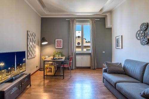Coin salon dans l'établissement Urban Apartments - Rooms of art