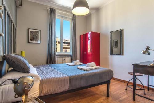 Un ou plusieurs lits dans un hébergement de l'établissement Urban Apartments - Rooms of art