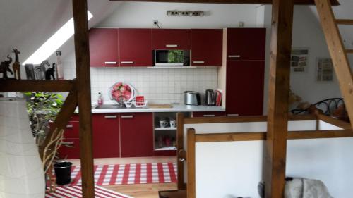 Küche/Küchenzeile in der Unterkunft Ferienhaus Deubetal