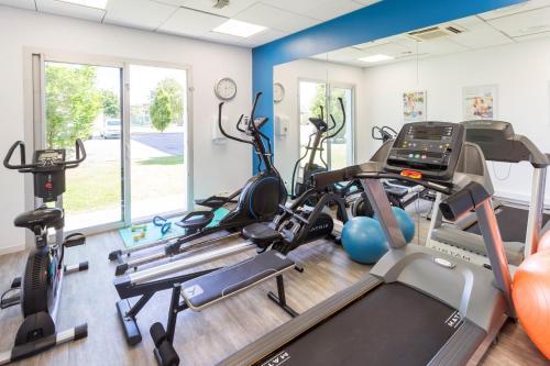 Фитнес-центр и/или тренажеры в Néméa Appart'hotel Toulouse Saint-Martin