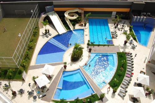 A view of the pool at Veredas do Rio Quente Flat or nearby