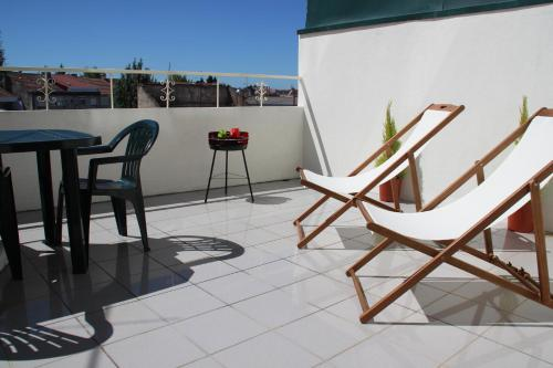 A balcony or terrace at Charming Apartment in Braga Historical Center - Minho's Guest