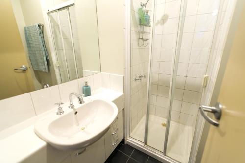 Kupatilo u objektu Flinders Lane Superior Studio Apartment