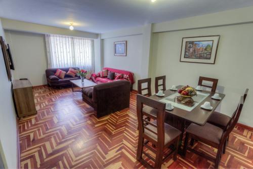 Zona de estar de Apartamentos Sami Cusco