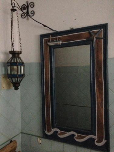 A bathroom at La Lampara