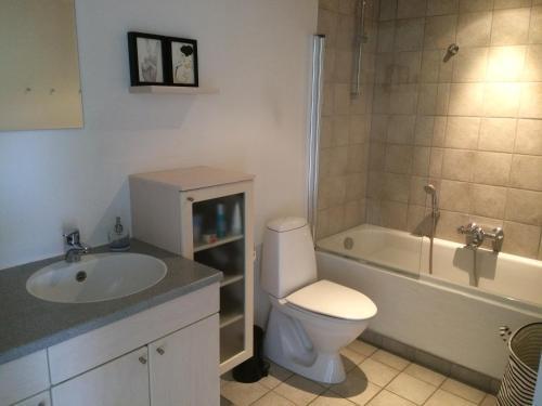 Een badkamer bij Lovely House in Vejle