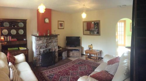 A seating area at Sycamore Cottage