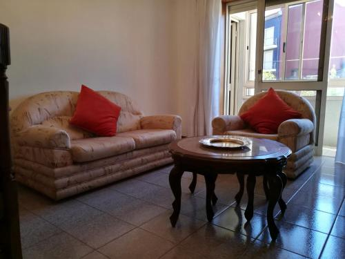 A seating area at LUCINDA`S HOUSE