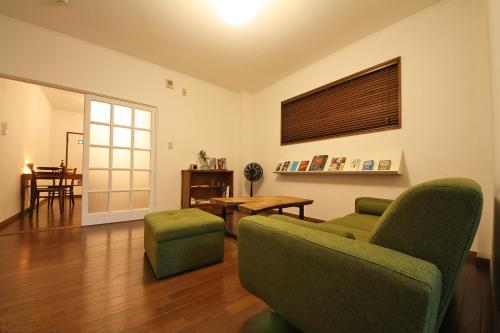 Ein Sitzbereich in der Unterkunft sumica apartments