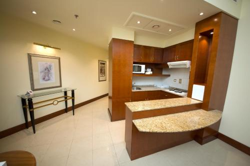 A kitchen or kitchenette at Pearl City Suites Deira City Centre By Gemstones