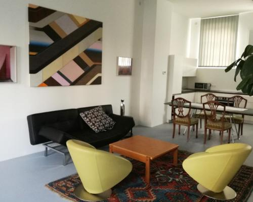 אזור ישיבה ב-Art Apartment Winterhafen