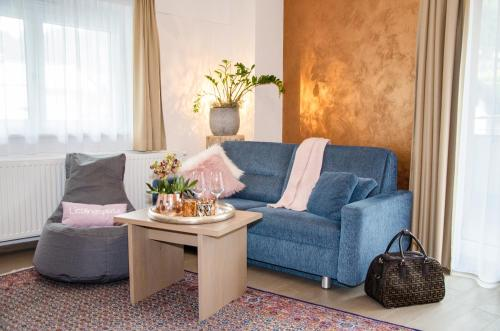 אזור ישיבה ב-Aparthotel Bergtraum