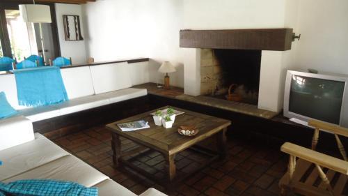 A seating area at Casa Na beira Mar em Torres