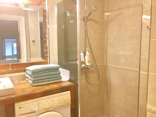 Vannas istaba naktsmītnē Ontic Wellness Apartments