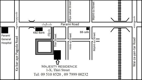 The floor plan of Majesty Residence