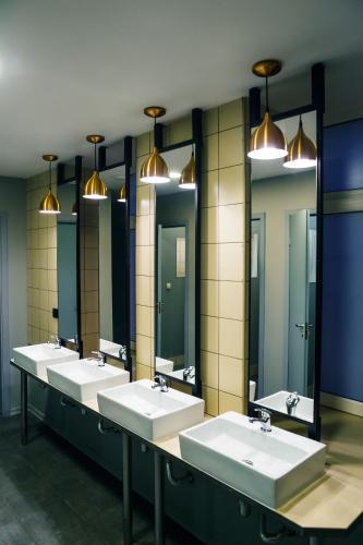 Ванная комната в Railway capsules