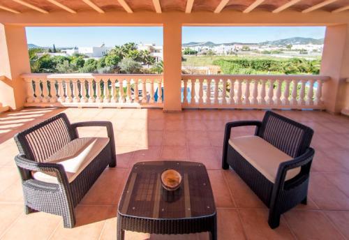 A balcony or terrace at Villa San Jordi Ibiza Ses Salines