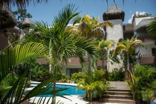 The swimming pool at or near Natura Tulum