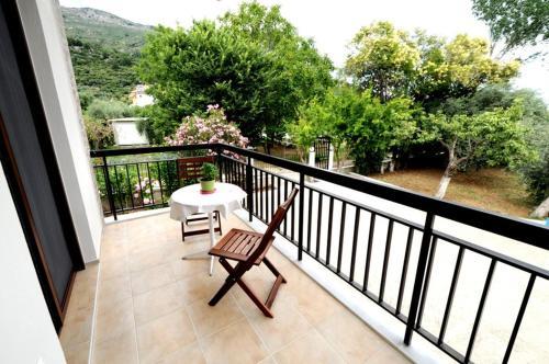 A balcony or terrace at Alba Studio Thassos
