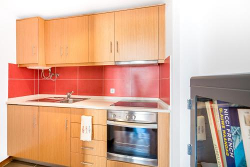 A kitchen or kitchenette at Pateo Santo Estevao-Self Catering Apartments