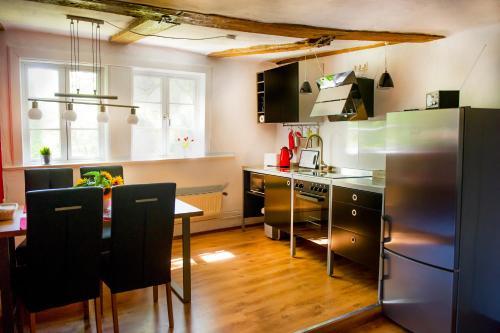 Küche/Küchenzeile in der Unterkunft Ferienwohnung Goslar Runenhaus