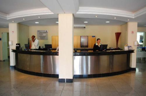 The lobby or reception area at Aguas da Serra Apart