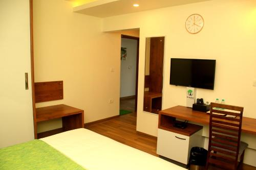 A television and/or entertainment centre at BonzaiStay