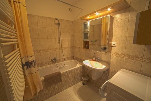Kúpeľňa v ubytovaní New Buda Apartment