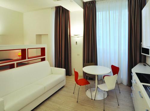 אזור ישיבה ב-BB Hotels Aparthotel Città Studi