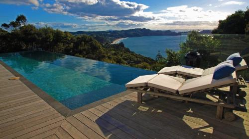 The swimming pool at or near Claire's Luxury Hideaway