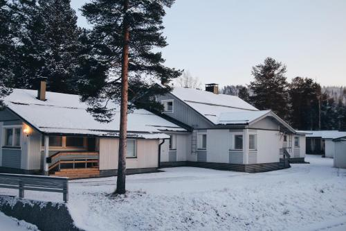 Levilehto Apartments during the winter